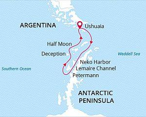 Antarctica Cruise map