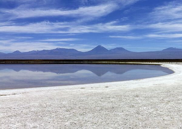Cejar Lagoon reached by bike from San Pedro de Atacama