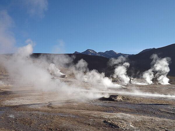Atacama desert geysers
