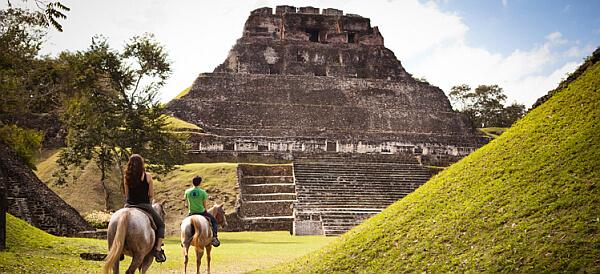 Belize ruins by horseback