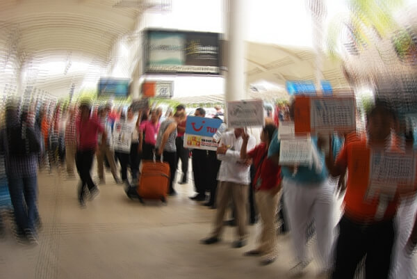 Cancun airport arrival