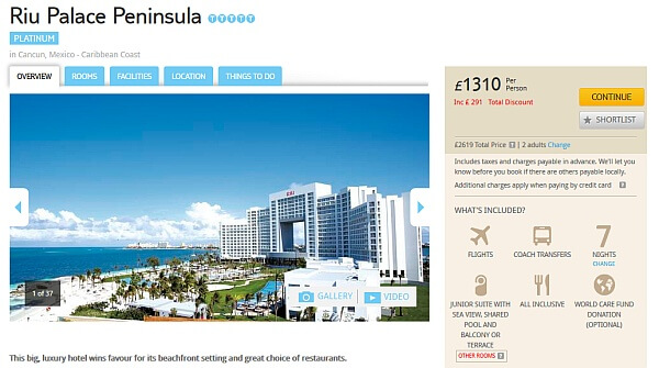 Cancun holiday package