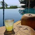 a drink on demand at a luxury villa rental in Mexico