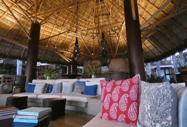 Casa Koko luxury villa living room under a palapa