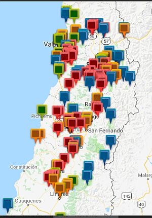 wine tours districts of Chile