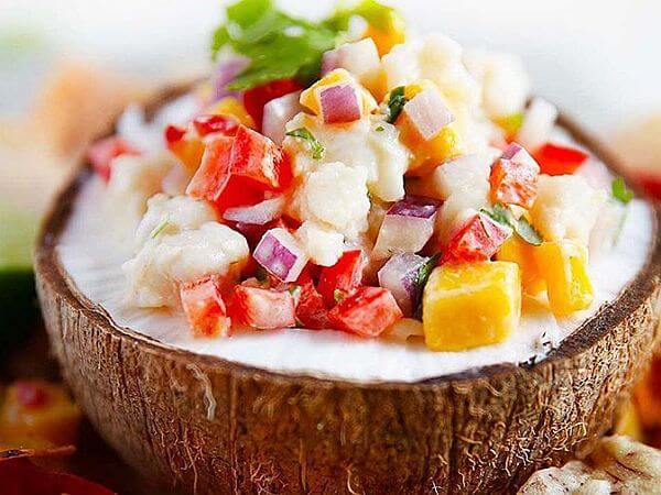 coconut ceviche taste of Latin America