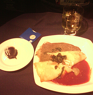 Copa Airlines meal