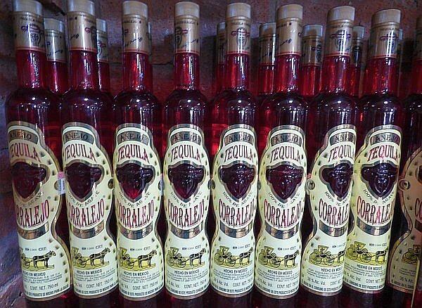 Corralejo tequila bottles