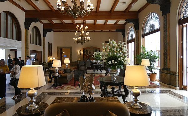 lobby of the luxury Country Club Lima hotel in Peru