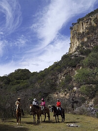 riding horses near San Miguel