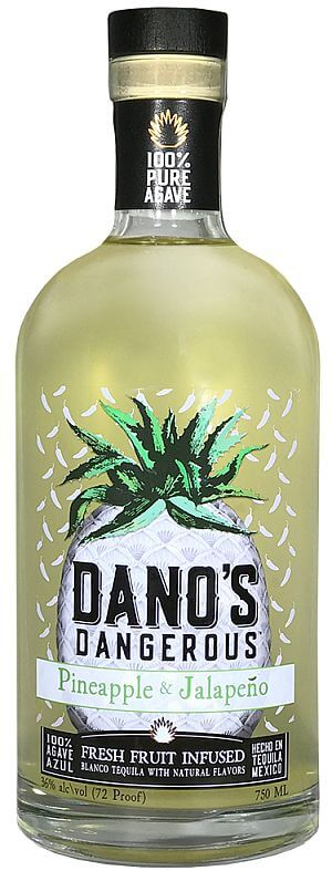 Dano's Infused Tequila with pineapple and jalapenos