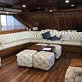 Living room on Ecoventura small ship Galapagos tour