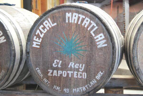 Rey de zapoteca mezcal barrels