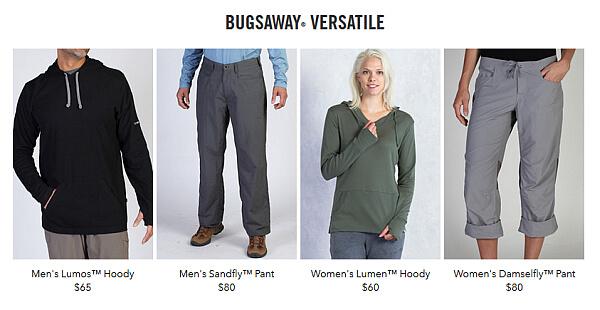 ExOfficio bugsaway clothing