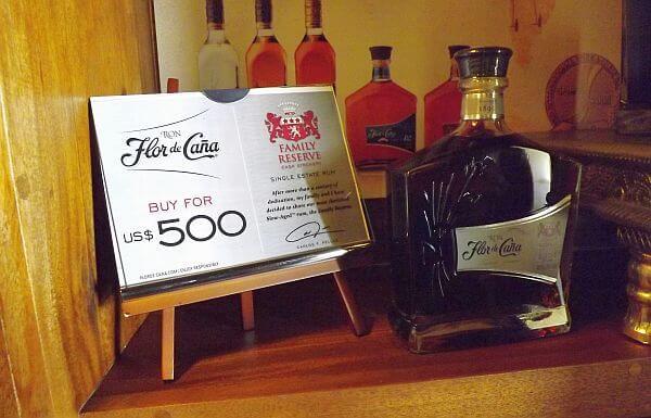 Flor de Cana $500 rum at Mukul