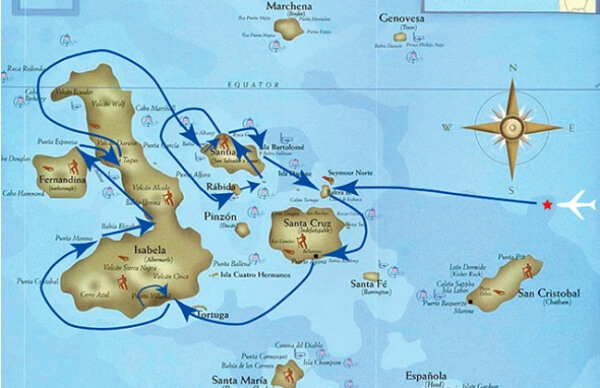 Galapagos itinerary 8 days