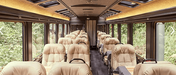 First Class train to Machu Picchu with Inca Rail