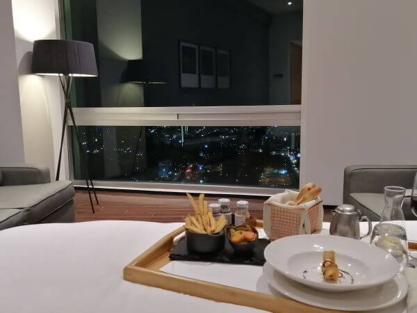 room service with a view at Presidente Intercontinental Santa Fe