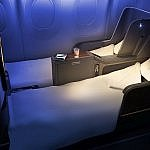 Lie flat business class seats to South America