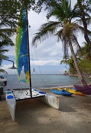 Belize private island beach