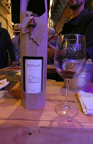 Mexican wine from Guanajuato state in Mexico, at the Catando Festival in November