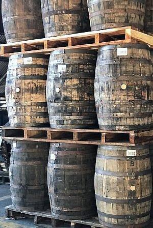Flor de Cana rum barrels in Nicaragua