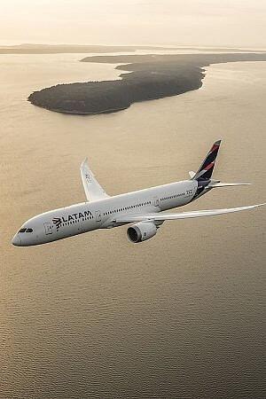 LATAM flight over Brazil