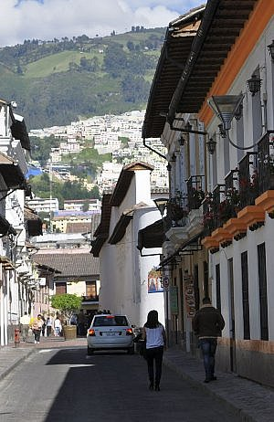 The San Marcos neighborhood of historic Quito, in mainland Ecuador
