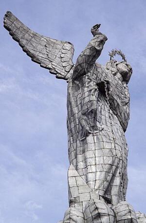 El Panacillo hillside Virgin Mary statue in Quito, Ecuador