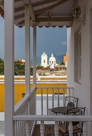 Santa Marta Colombia view from the city's best place to stay: Boutique Hotel Don Pepe