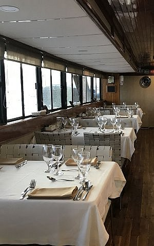 Dining room on Ecoventura Eric ship