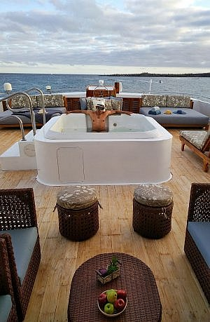 Galapagos luxury ship with Jacuzzis on deck - Latin Trails Sea Star Journey