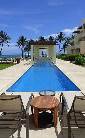 Lap pool at the waterfront Phoenix Resort Belize in San Pedro town, Ambergris Caye.