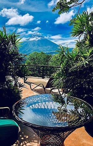 View from The Springs Resort and Spa near Fortuna in Costa Rica
