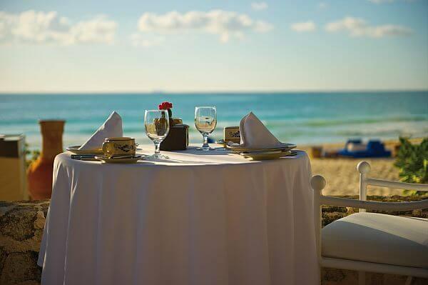 beachfront dining experiences Riviera Maya Maroma