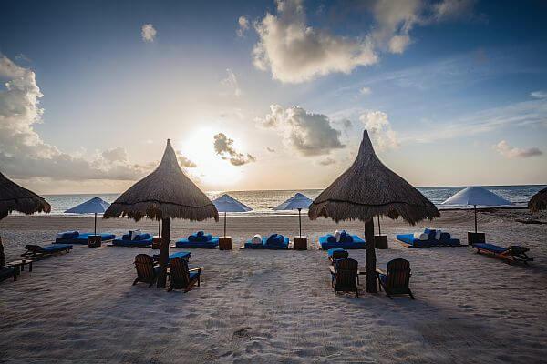 Riviera Maya beach at Maroma for a destination wedding