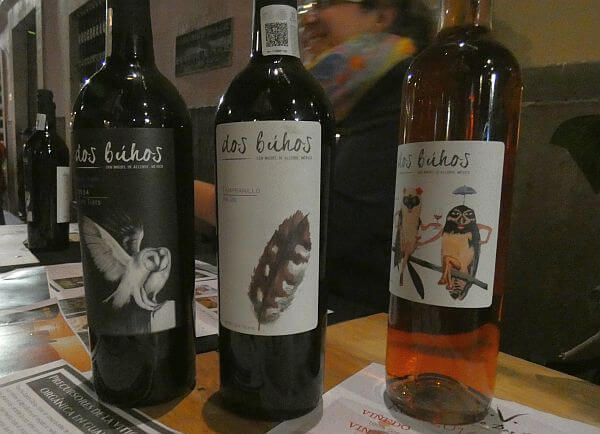 Dos Bujos wine from near San Miguel de Allende