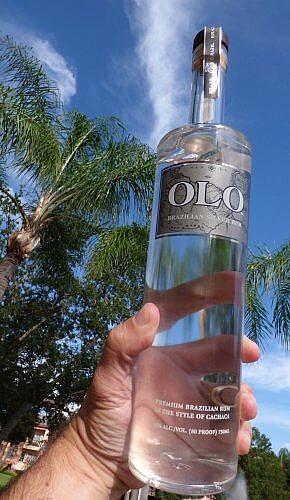Brazilian Olo silver rum Cachaça style from sugar cane