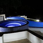 Pacaya Lodge pool at night