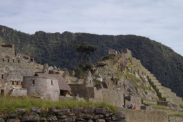 visiting Machu Picchu in Peru