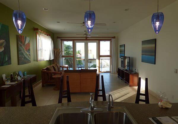 Phoenix Resort Belize condo living room