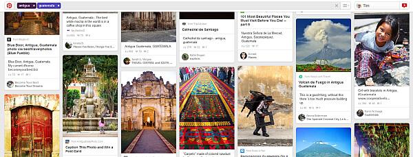 Pinterest travel planning