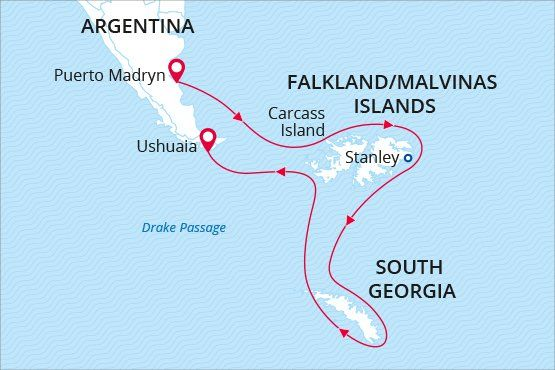 Falkland Islands and South Georgia Island cruise