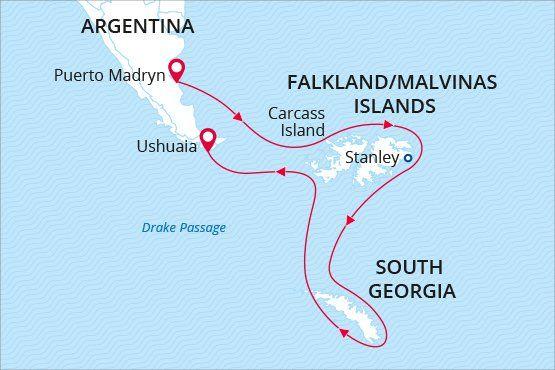 Falkland Islands and South Georgia Island cruise