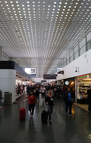 Mexico City airport, a place you don't want to get stranded for days because your tour company went bankrupt