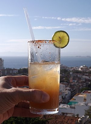 Tamarind margarita in Puerto Vallarta Mexico