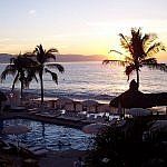 Puerto Vallarta hotel view at sunset