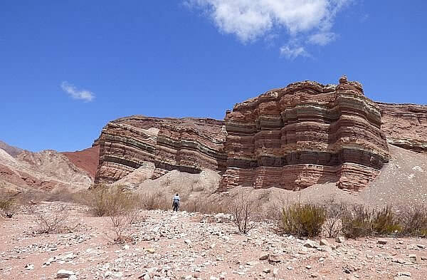 rock formations canyon near Cafayate Argentina