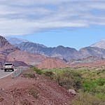driving from Salta to Cafayate Quebrada canyon