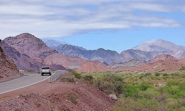 driving from Salta to Cafayate Quebrada canyon